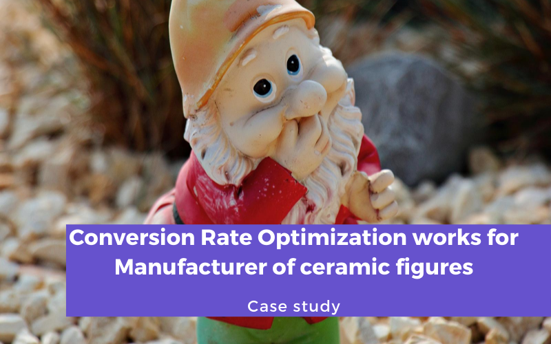 Conversion Rate Optimization Case for Manufacturer